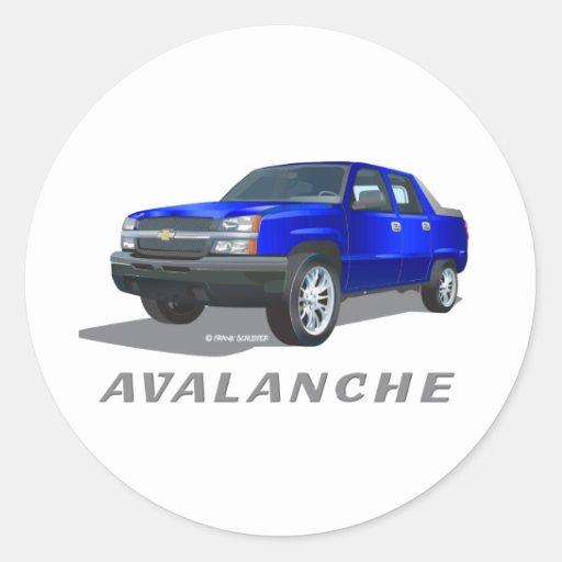 Azul de la avalancha de Chevrolet Pegatina Redonda