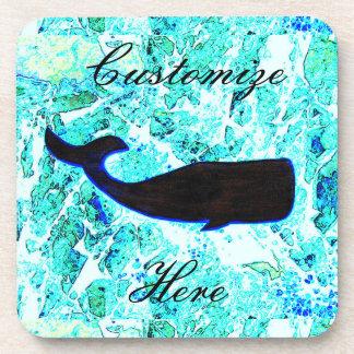 azul de la ballena negra posavasos