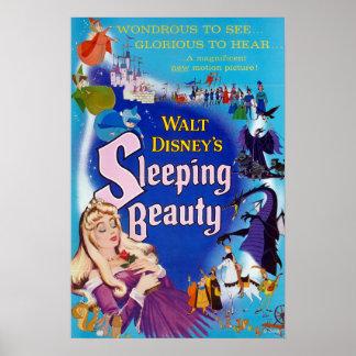 Azul de la bella durmiente póster