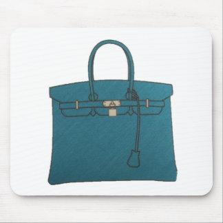 Azul de la bolsa de asas de Birkin Tapetes De Raton