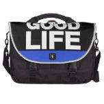 Azul de la buena vida de largo bolsas para portatil