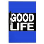 Azul de la buena vida de largo pizarras