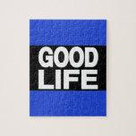 Azul de la buena vida de largo rompecabeza
