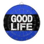 Azul de la buena vida de largo tablero dardos