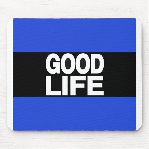 Azul de la buena vida de largo alfombrillas de raton