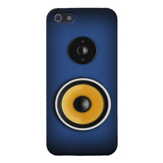 Azul de la caja del teléfono del altavoz iPhone 5 funda