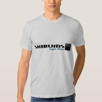 Azul de la camisa 6 de SkiBums