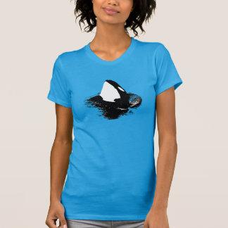 "Azul de la camisa de la ""orca"" de la orca"