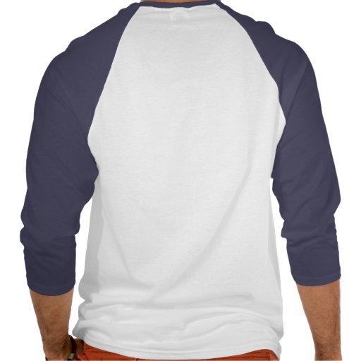 Azul de la camisa del raglán de la manga del perro