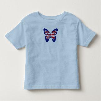 Azul de la camiseta del niño pequeño polera