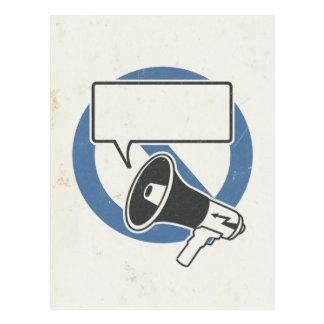 Azul de la censura tarjetas postales
