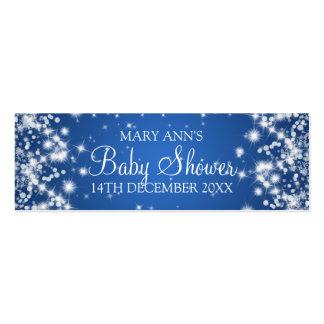 Azul de la chispa del invierno de la etiqueta del plantilla de tarjeta personal