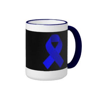 Azul de la cinta de la ayuda de la conciencia taza de dos colores