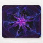 Azul de la cinta de la estrella - modelo abstracto alfombrillas de ratones