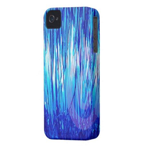 Azul de la ciudad de la malla iPhone 4 cárcasas
