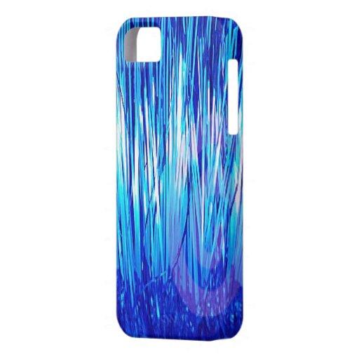 Azul de la ciudad de la malla iPhone 5 carcasas