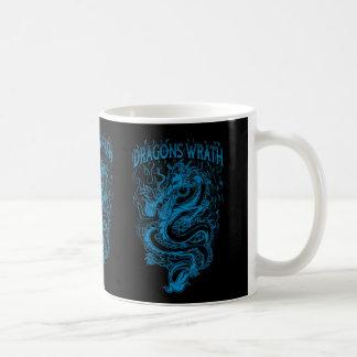 Azul de la cólera de los dragones taza