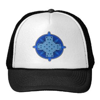 Azul de la cruz céltica 4 gorros