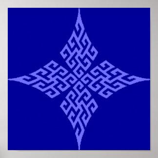 Azul de la cruz céltica 5 póster