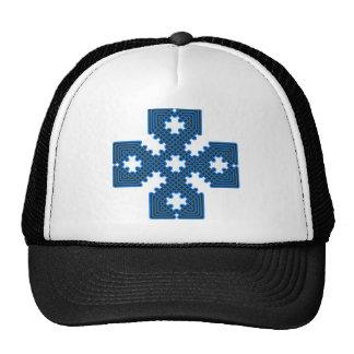 Azul de la cruz céltica 8 gorro