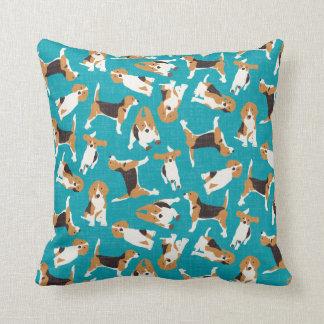 azul de la dispersión del beagle cojín decorativo