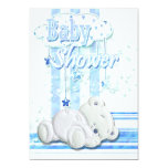 Azul de la ducha del bebé comunicados personalizados