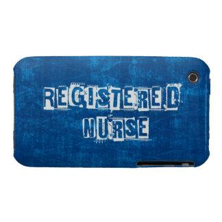Azul de la enfermera registradoa apenado carcasa para iPhone 3