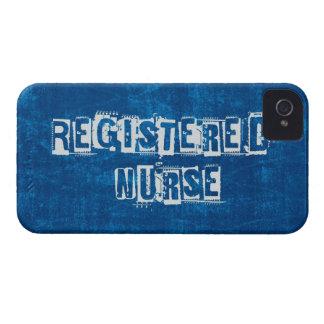 Azul de la enfermera registradoa apenado funda para iPhone 4 de Case-Mate