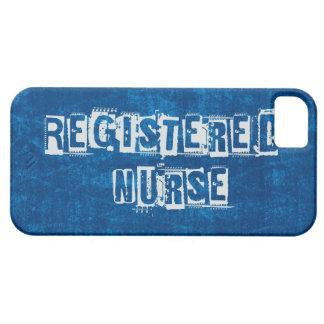 Azul de la enfermera registradoa apenado funda para iPhone SE/5/5s