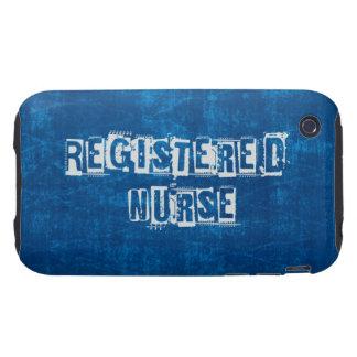 Azul de la enfermera registradoa apenado funda though para iPhone 3