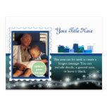 Azul de la entrega especial postales