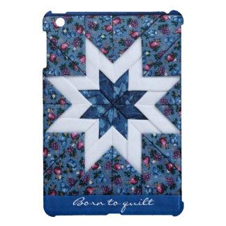 Azul de la estrella del edredón 'llevado al quilt