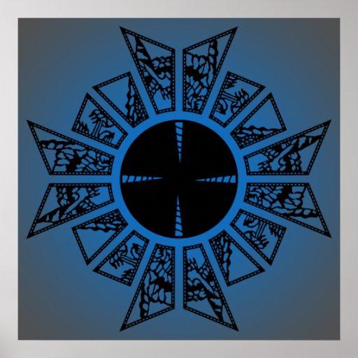 Azul de la estrella del Lament Póster
