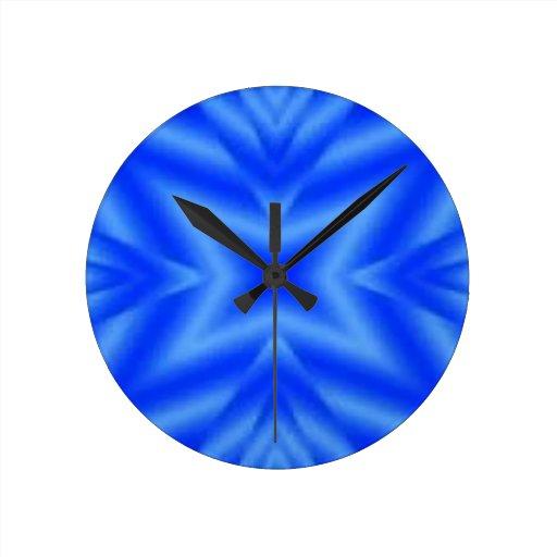 azul de la estrella reloj redondo mediano