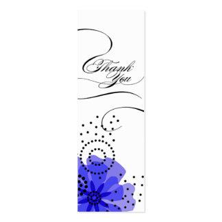 Azul de la etiqueta del regalo de las amapolas de tarjetas de visita mini