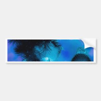 azul de la flor del efecto profundamente pegatina para auto