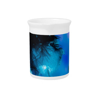 azul de la flor del efecto profundamente jarra para bebida