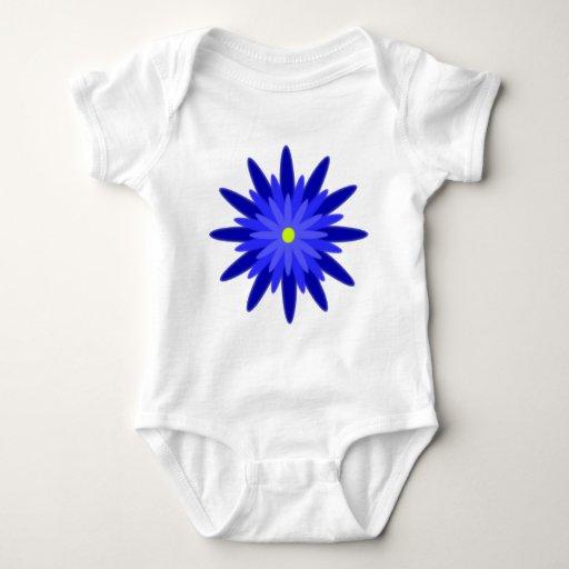 Azul de la floración camisas