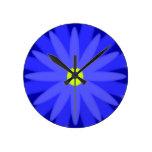 Azul de la floración reloj