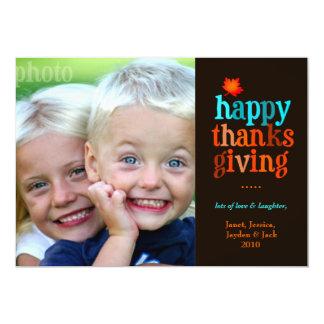 """azul de la foto de la acción de gracias 311-Happy Invitación 5"""" X 7"""""""