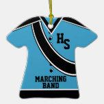 Azul de la foto de la banda de la escuela ornamentos de reyes