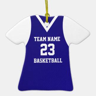 Azul de la foto del jersey del baloncesto ornamento de reyes magos