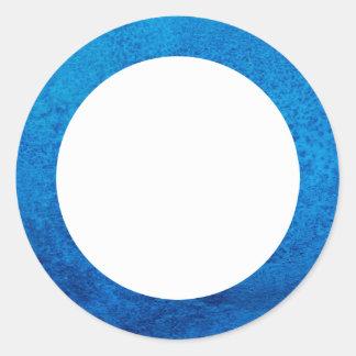 Azul de la frontera el | de la textura de la pegatina redonda