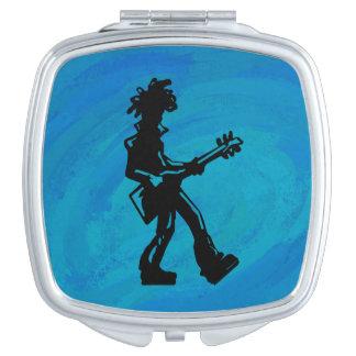 Azul de la guitarra de las noches de la boogie de espejo para el bolso