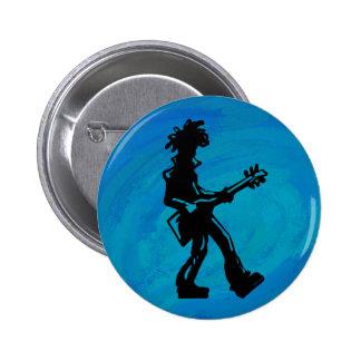 Azul de la guitarra de las noches de la boogie de pin redondo de 2 pulgadas