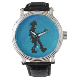 Azul de la guitarra de las noches de la boogie de relojes de mano