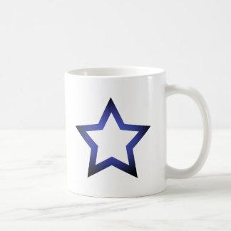 Azul de la H-Estrella Tazas De Café
