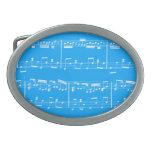 Azul de la hebilla del cinturón de la partitura hebillas cinturón ovales