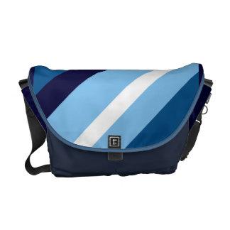 Azul de la hiedra rayado bolsas de mensajería
