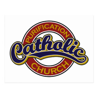Azul de la iglesia católica de la purificación en  tarjeta postal